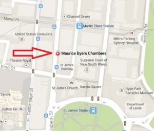 map to maurice byer chambers
